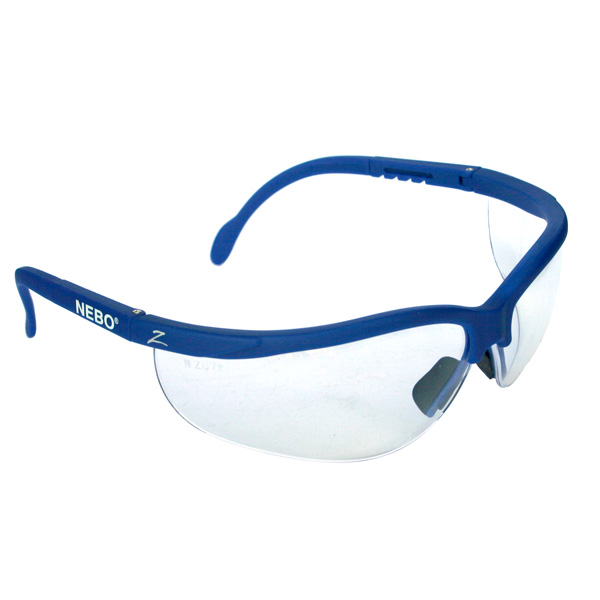 fc464b665d6d iPROTEC Z-Lens Safety Glasses (Clear with Blue Frames) Safety Wear