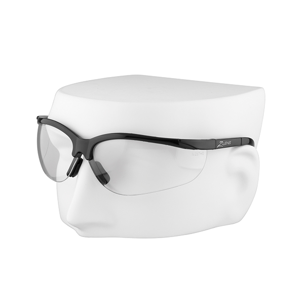 iPROTEC Z-Lens Safety Glasses (Clear with Black Frames) Safety Wear
