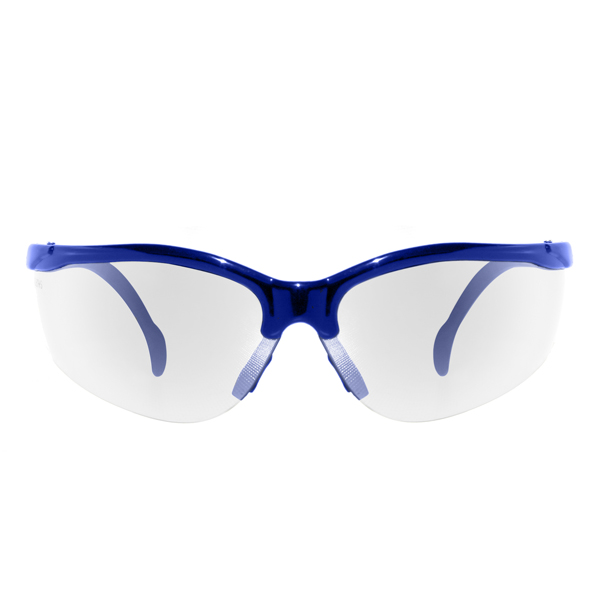 c8d17e75a5ba iPROTEC Z-Lens Safety Glasses (Clear with Blue Frames) Safety Wear